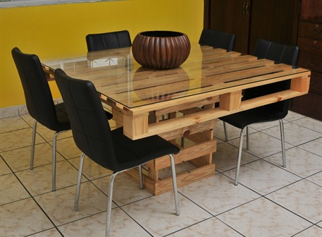 Eco decoraci n blog - Mesas madera reciclada ...