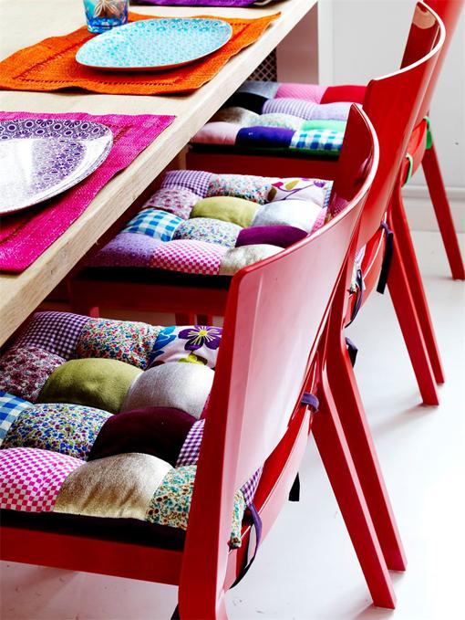 Patchwork una tendencia con mucho estilo blog - Hacer cojines para sillas ...